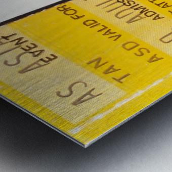 1982 arizona state sun devil college football ticket stub canvas sports wall art Metal print