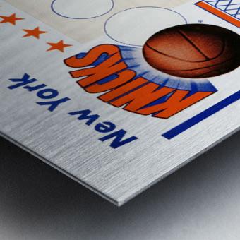 George Kalinsky Art Vintage New York Knicks Poster Reproduction Sports Art Metal print
