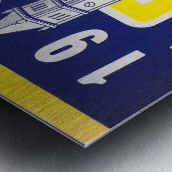 1951 college football season ticket cal bears row 1 Metal print