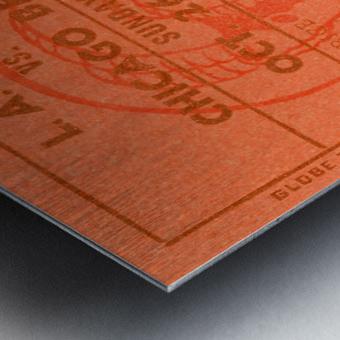 1952 la rams chicago bears nfl ticket art wood print Metal print