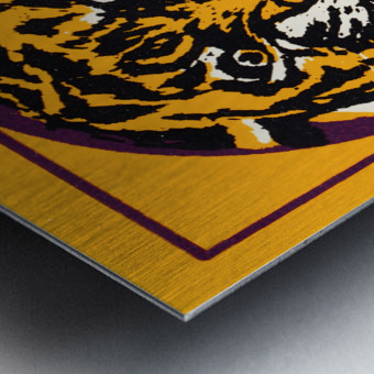 lsu tigers retro poster Metal print
