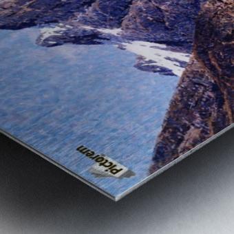 A Norwegian Fjord Scene Metal print