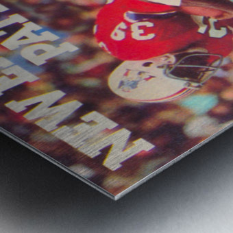 1979 New England Patriots Retro Football Poster Metal print