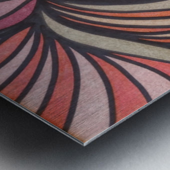 Scarlet Bluff  Metal print