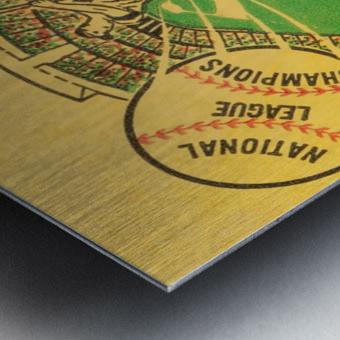1967 LA Dodgers vs. Atlanta Braves Baseball Ticket Canvas Metal print