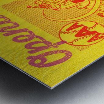 1955 aaa baseball denver bears opening game baseball ticket stub frame canvas Metal print
