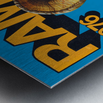 1976 rams vintage nfl poster Metal print
