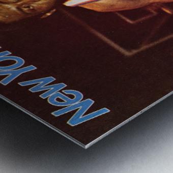 1977 new york knicks basketball poster Metal print