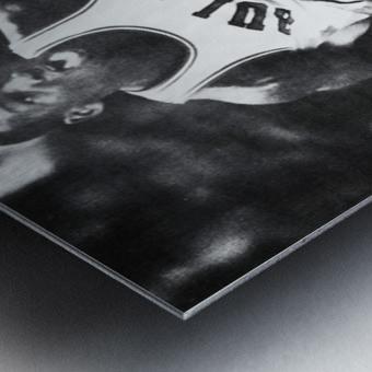 1985 Michael Jordan Black and White Poster Metal print