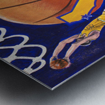 1974 golden state warriors basketball art murray olderman artist Metal print
