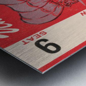 1949 oklahoma sooners football student season ticket art Metal print