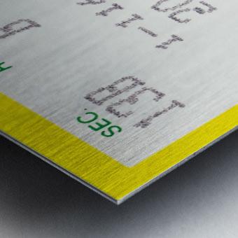 1986 seattle supersonics ticket stub canvas art Metal print