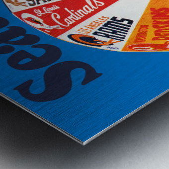 1976 seattle seahawks art Metal print