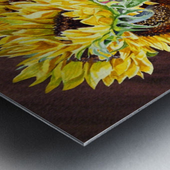 A Bunch Of Sunflowers Metal print