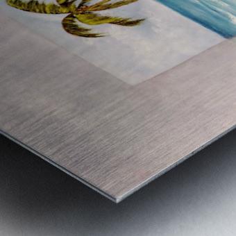 Swaying Palm Metal print