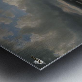 Landscape with a creek Metal print