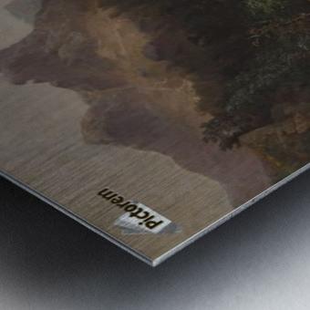 Gebirgslandschaft mit Muhle Metal print