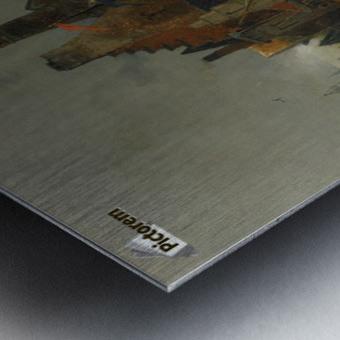 Anlegende Boote Metal print