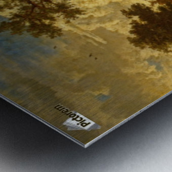 A wooded landscape Metal print