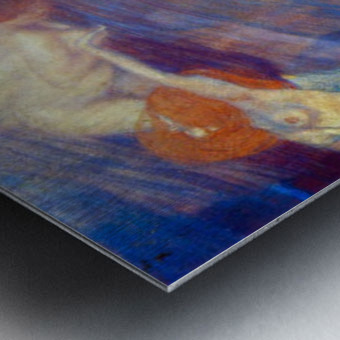 Moving water by Klimt Metal print