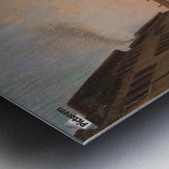 Piazza della Vittoria a Pavia olio su tela Metal print