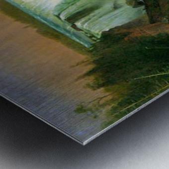 Niagra Falls by Bierstadt Metal print