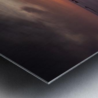 Sker Beach sunset Metal print