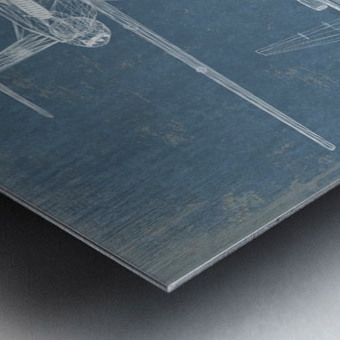 fokker Metal print