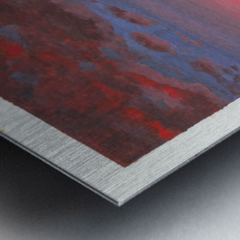 Ruby Night  Metal print