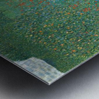 Poppy Field by Klimt Metal print