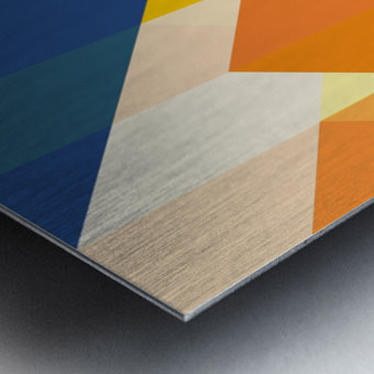 Geometric LI Metal print