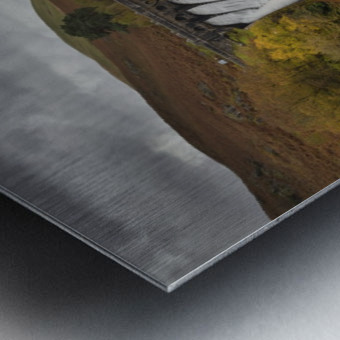The dam at Craig Goch Metal print