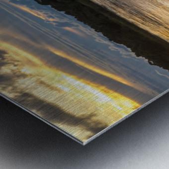 Araguaia River - Returning fishermen Metal print