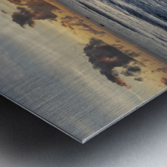 Sunrise Golden Metal print