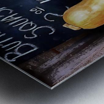 Butternut Squash Sale Display Metal print