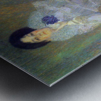 Portrait of Marie Henneberg (portrait in purple) by Klimt Metal print