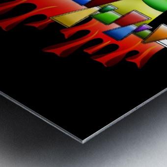Grafenonci V4 Metal print