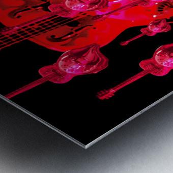 PinkRainBlackVelvet Metal print