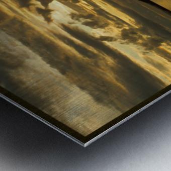 clarence river sunset Metal print