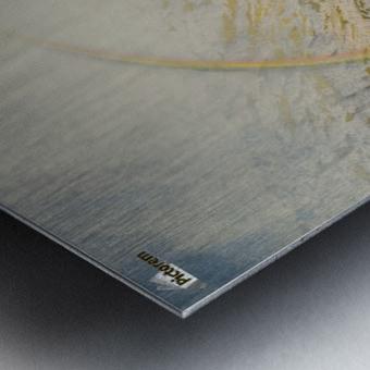 A mountain road, flood time Metal print