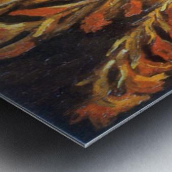 Red Gladioli by Van Gogh Metal print