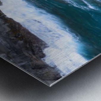 Swirling Blue Seas Metal print