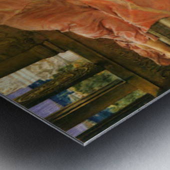 A favorite poet by Alma-Tadema Metal print