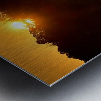 Sunrise at Langley Pond Park   Aiken SC 7R301617 12 19 20 Metal print