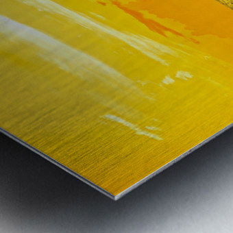 At the Sea Shore - Sunset Hawaiian Islands Metal print