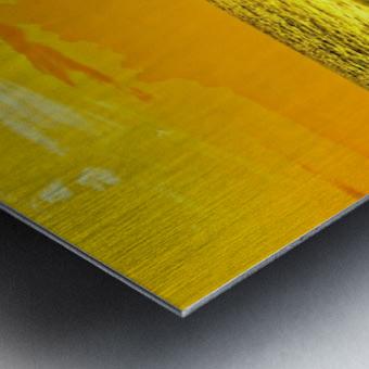 At the Sea Shore Panorama - Sunset Hawaiian Islands Metal print