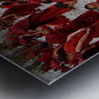 Monks debating Metal print
