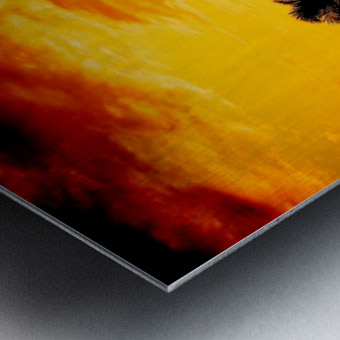 Fire in the Heavens - Sunset Hawaiian Islands Metal print