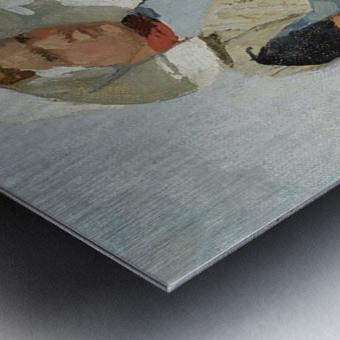 An Arnemuiden Fisherwoman Metal print