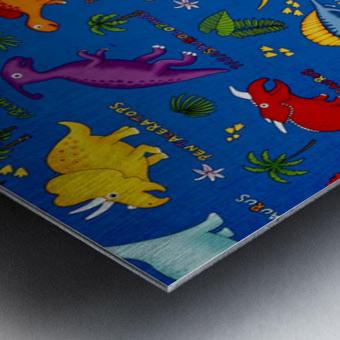 Dinosaurs Royal-Multi Metal print